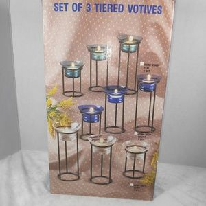 Set of 3 tiered Votives ( candles)